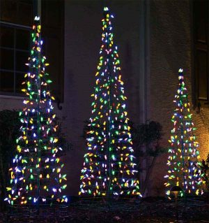 Santa's Best LED Multicolor Outdoor Cone Tree